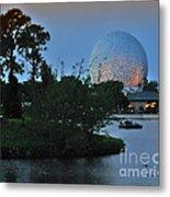 Sunset World Showcase Lagoon Metal Print