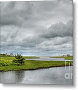 Sunshine And Heavy Clouds Over Dennisport Metal Print