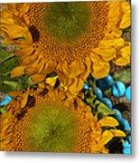 Sunshine And Turquoise  Metal Print