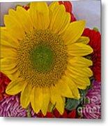Sunshine Bouquet Metal Print