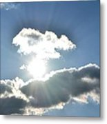 Sunshine Clouds Metal Print