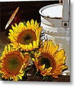 Sunshine From The Garden Metal Print