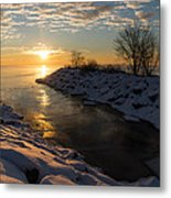 Sunshine On The Ice - Lake Ontario Toronto Canada Metal Print