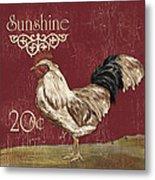 Sunshine Rooster Metal Print