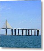 Sunshine Skyway Bridge II Tampa Bay Florida Usa Metal Print