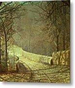 Sunshine Through Winter Trees Metal Print