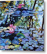 Sunspots On The Lilies Metal Print