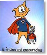 Super Dad And Son Metal Print by Pet Serrano