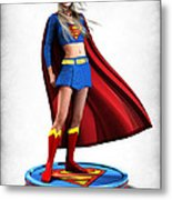 Super Girl V1 Metal Print by Frederico Borges