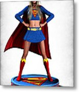 Super Girl V2 Metal Print by Frederico Borges