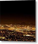 Super Moon Over Phoenix Arizona  Metal Print