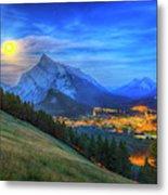 Super Moonrise Over Banff Metal Print