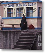 Super Taxi Stand Metal Print