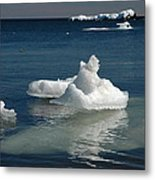 Superior Blues And Ice Metal Print by Sandra Updyke