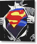 Superman Metal Print by Erik Pinto
