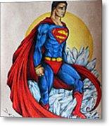 Superman Lives On Metal Print