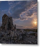 Supermoon At Mono Lake Metal Print