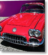 Supernova Corvette Metal Print by Samuel Sheats
