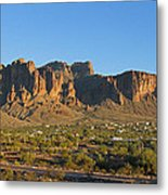 Superstition Mountain In The Evening Sun Metal Print