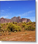 Superstition Mountains Arizona - Flat Iron Peak Metal Print by Christine Till