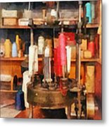 Supplies In Tailor Shop Metal Print