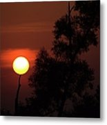 Supporting The Sun Metal Print