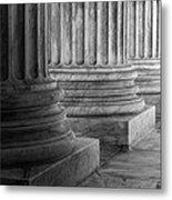 Supreme Court Columns Black And White Metal Print