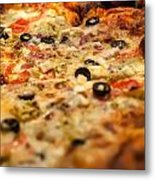 Supreme Meat Works Pizza  Sliced And Ready To Eat Metal Print