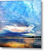 Sureal Pewaukee Lake Sunrise Metal Print