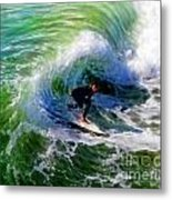 Surf 3 Off The Lip Metal Print