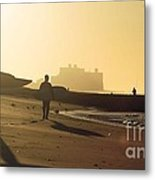 Surf After Sandy Metal Print