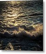 Surf At Dawn Metal Print