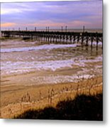 Surf City Pier Metal Print
