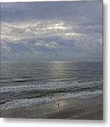 Surf Fishing At Dawn Metal Print