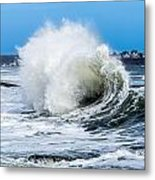 Surf Is Up At York Beach Metal Print