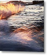 Surf On Fire-1 Metal Print