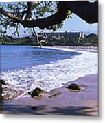 Surf On The Beach, Mauna Kea, Hawaii Metal Print