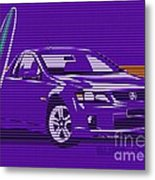 Surf Ute Purple Haze Metal Print