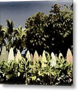 Surfboard Fence - Old Postcard Metal Print