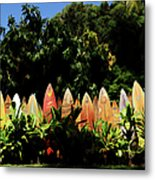 Surfboard Fence - Right Side Metal Print