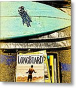 Surfboards And Magazines Metal Print by Ron Regalado