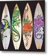 Surfboards Art Jungle Metal Print