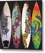 Surfboards Art Jungle2 Metal Print