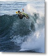 Surfer At Steamer Lane Metal Print by Bruce Frye