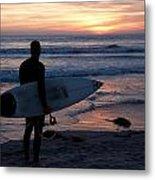 Surfer At Sunset Metal Print