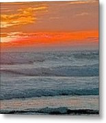 Surfer At Sunset Metal Print