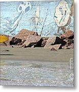 Surfer Beach 1034b Metal Print