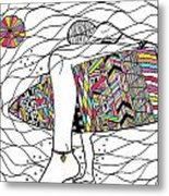 Surfer Girl Metal Print by Susan Claire