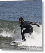Surfer Hitting The Curl Metal Print