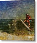 Surfer In Oil Metal Print